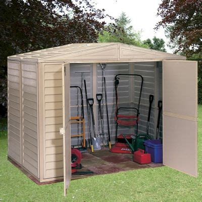 Duramax Plastic Shed by Duramax Duramate 86 Plastic Shed One Garden
