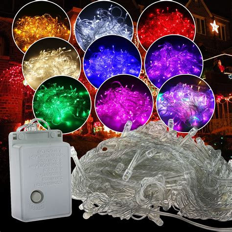 100 Led Christmas Tree Fairy Colorful Xmas String Party Colorful String Lights
