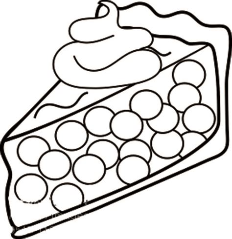 free coloring pages of pie