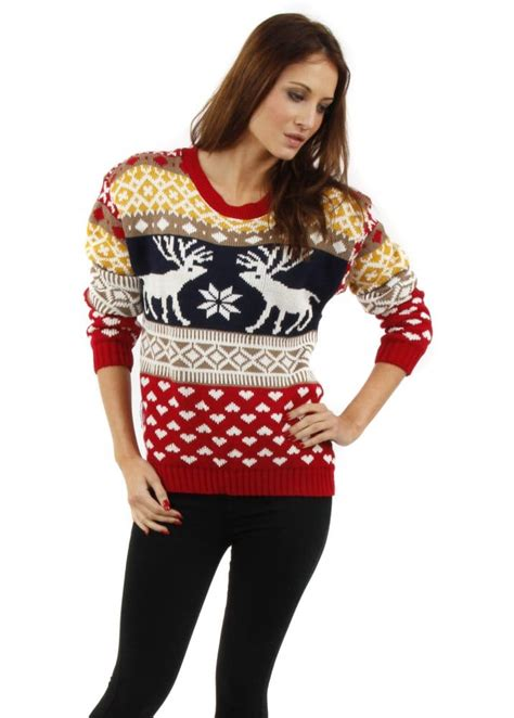 knitting pattern reindeer christmas jumper christmas jumper christmas reindeer jumper festive jumpers
