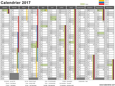 Calendrier Zone A 2017 Vacances Scolaires 2017 Calendrier 224 Imprimer