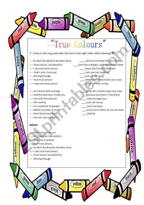 phil collins true colors true colours by phil collins part 2 esl worksheet by droplet