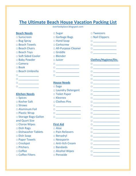 24 beach bag essentials with printable list