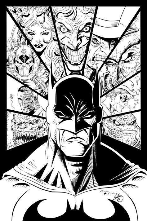 batman and villains ink by swave18 on deviantart news
