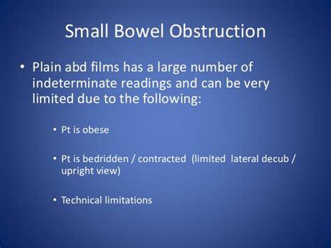Xr Slides Limited acute abdomen