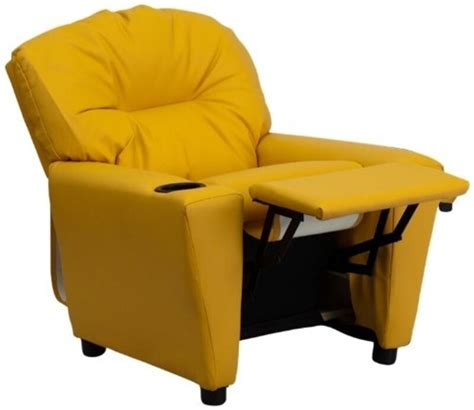 yellow recliner chair flash furniture contemporary yellow vinyl recliner w