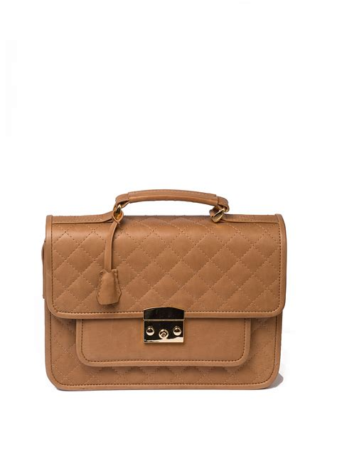 quilted leather quilted leather satchel bag camel hay hay