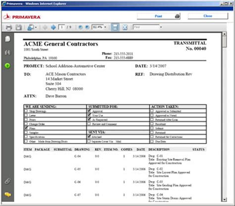 Transmittal Log Format Sle Transmittal Form For Documents