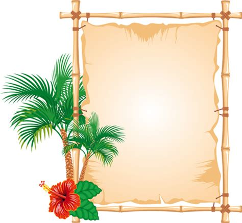 design in photo frame set of different of bamboo frame design vector free vector