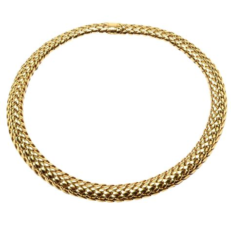 woven gold choker necklace at 1stdibs