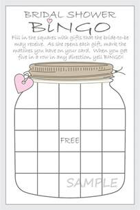 bridal shower bingo template 17 best images about wedding shower on