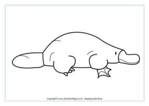 platypus colouring page 2