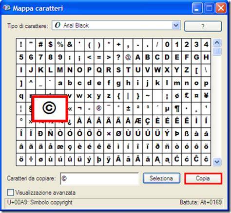 testo in html come mettere il simbolo copyright in un testo o in un