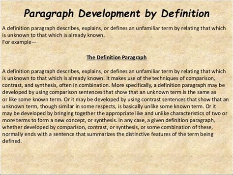 definition pattern of paragraph development functions of a definition essay websitereports359 web