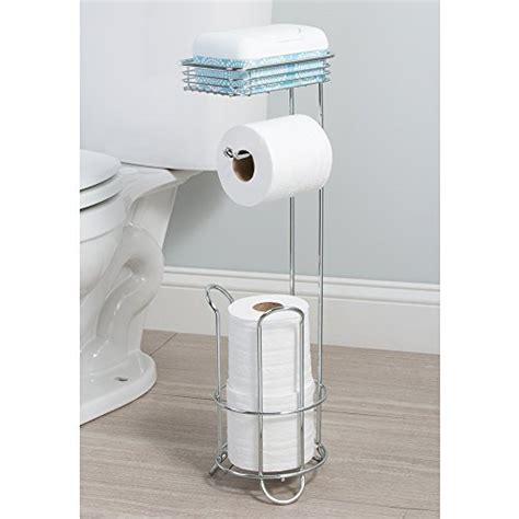 toilet paper holder with shelf interdesign classico free standing toilet paper holder