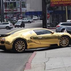 A Gold Bugatti Foxx Hops Out A Gold Bugatti Upscalehype