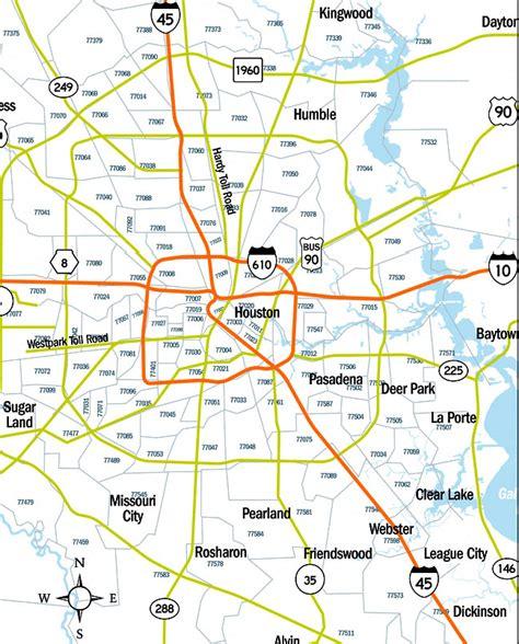 map of houston zip code areas houston metro area zip codes metro