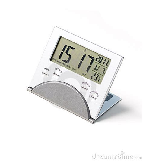 Small Digital Desk Clock A Small Digital Clock Stock Photo Image 17712700