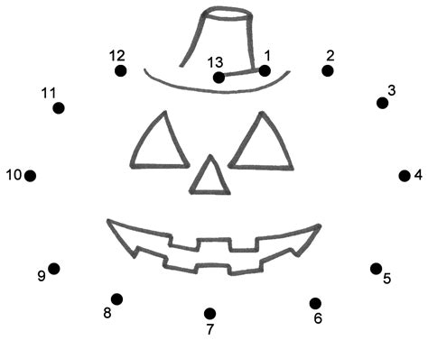 printable halloween dot to dot pictures pumpkin or jack o lantern connect the dots count by 1 s