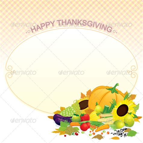 thanksgiving card template free illustrator thanksgiving card illustrated vector template food objects
