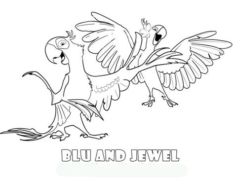 rio birds coloring pages animals coloring pages picture free printable coloring