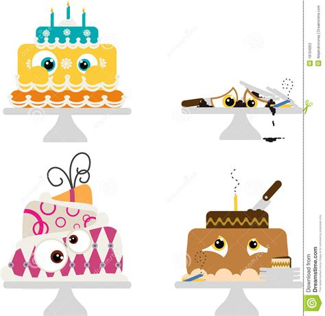 imagenes de tortas locas tortas locas de la historieta fotos de archivo imagen