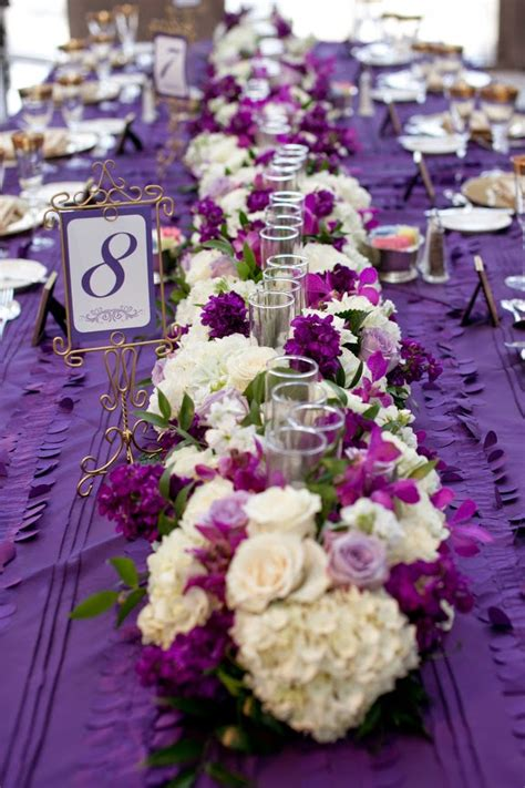 wedding table ideas purple purple wedding centerpiece ideas wedding stuff ideas