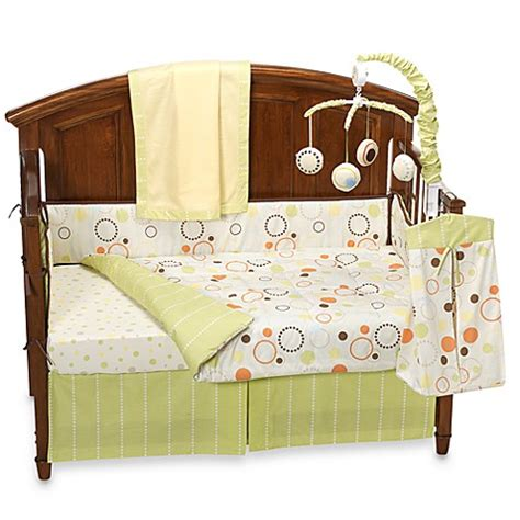sumersault crib bedding sumersault pop dot 10 piece crib bedding set bed bath