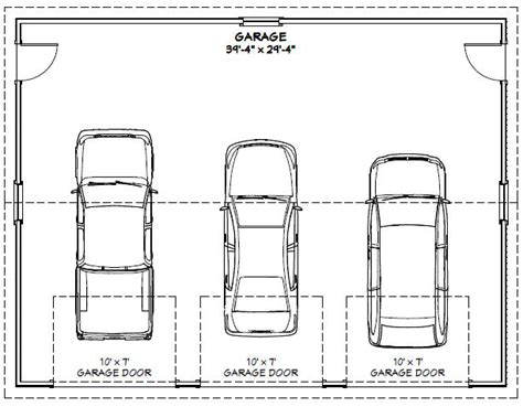 size of a 3 car garage 3 car garage dimensions ppi blog