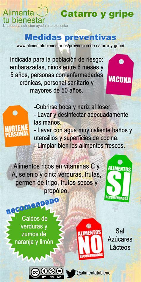 medidas  la prevencion de catarro  gripe
