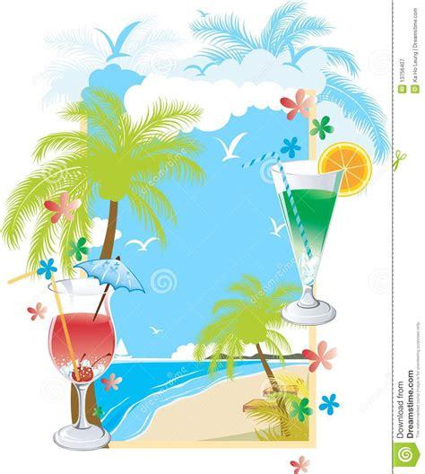 Summer Soft Drink Menu Royalty Free Stock Photography