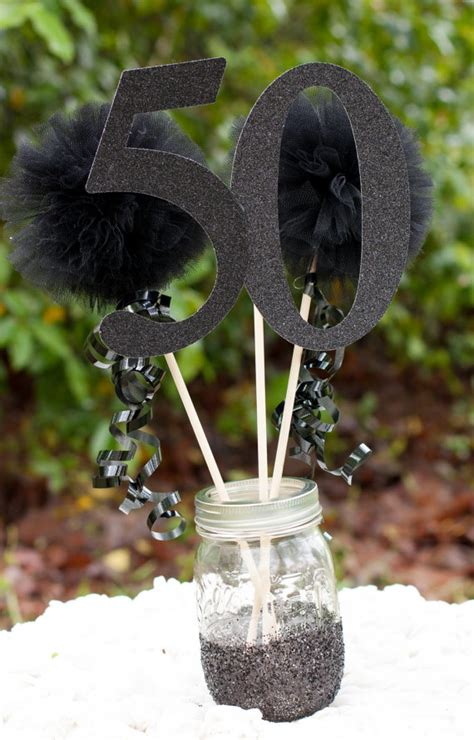 40th 50th 60th birthday centerpiece party decoration over