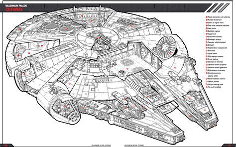 Millennium Falcon Floor Plan by Falcon Cutaway Roqoo Depot