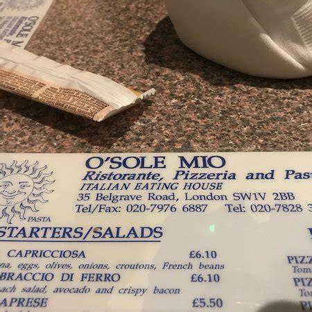 o sole mio 35 belgrave road victoria london sw1v 2bb o sole mio london pimlico restaurant reviews phone