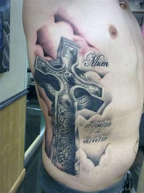 cross tattoos for men on ribs cross tattoos for on ribs tattooic