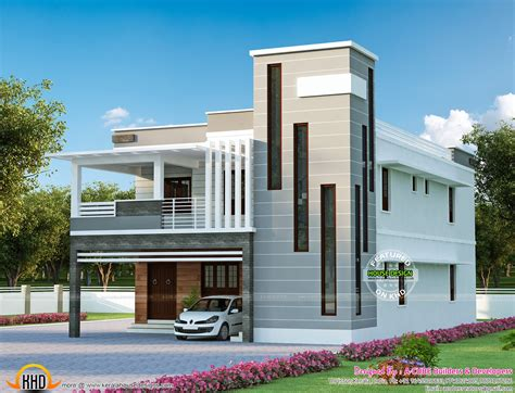 2 floor houses contemporary mix modern house kerala home design and