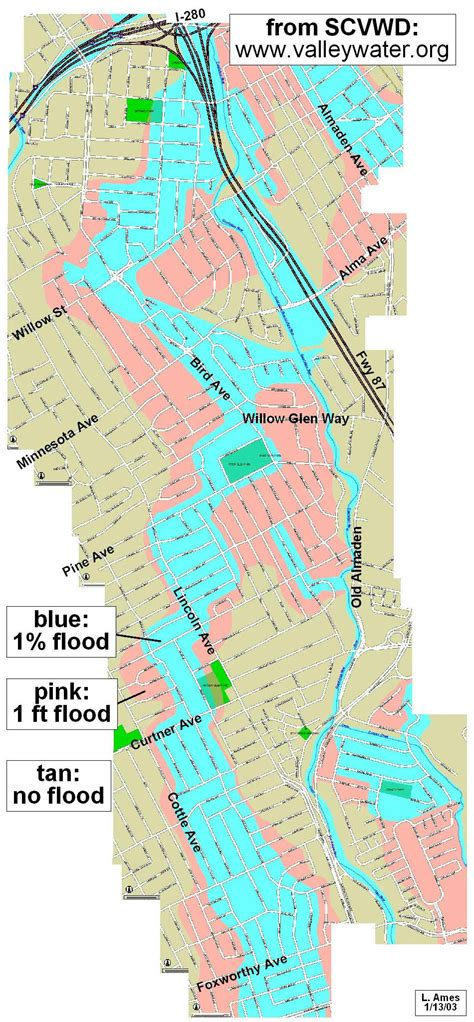 san jose flood map map index