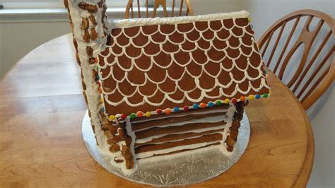gingerbread log house full instructions template