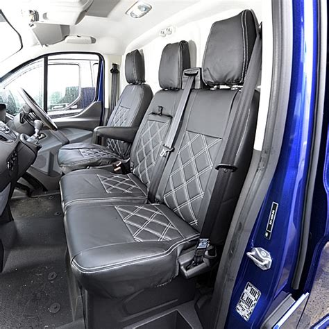 custom ford seat covers ford transit custom leatherette front seat covers 2013 on