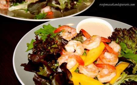 resep salad mangga  udang ala dapur arie resep