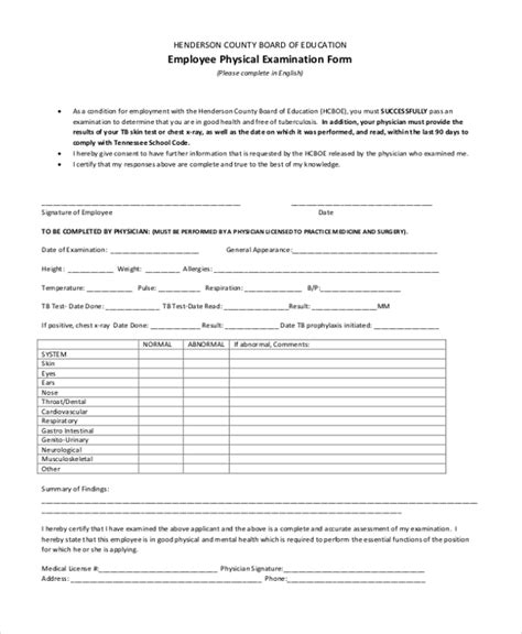 Physical Exam Form For Work Five Ugly Truth About Physical Physical Form For Work Template