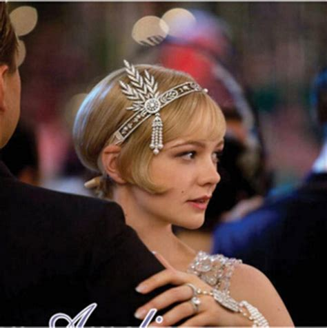 what color is daisys hair in the great gatsby diademe mariage gatsby boho boheme chic