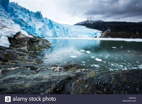 fjord patagonia brujo glacier asia fjord patagonia chile stock photo