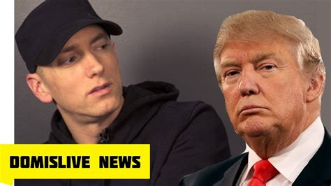 eminem youtube trump eminem diss trump on caign speech new song eminem
