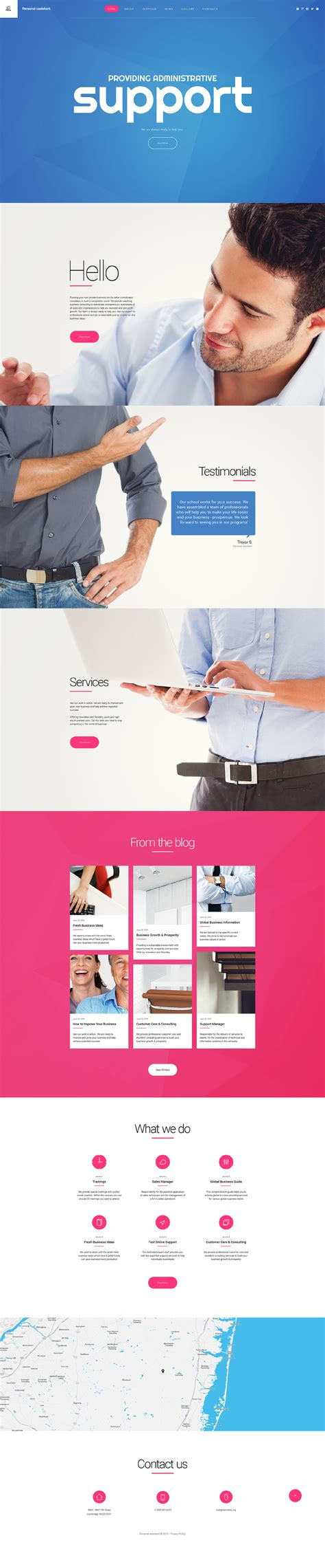 Personal Profile Website Template Assistant Website Template