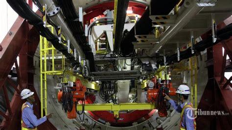 Mesin Bor Tanah Di Jakarta presiden jokowi resmikan pengoperasian mesin bor proyek mrt bernama antareja indonesia media