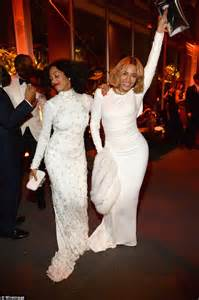 Vanity Fair Oscar Daily Mail Beyonce And Solange At The Vanity Fair Oscars