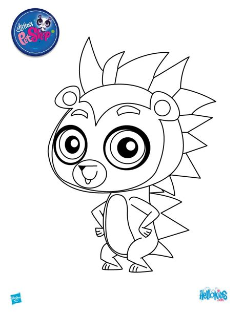 Russel Ferguson Coloring Pages Hellokids Com Littlest Pet Shop Color Pages