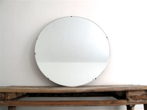 large round bathroom mirror vintage large round wall mirror 30 frameless by