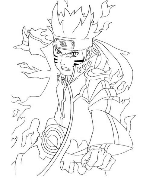 free coloring pages of naruto naruto anime